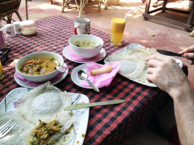 Traditional Kerala breakfast at Blue Moon